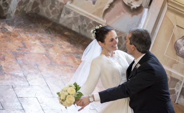 Foto del matrimonio di Giovanan e Federico presso il Palazzo Malacrida di Morbegno - Sondrio