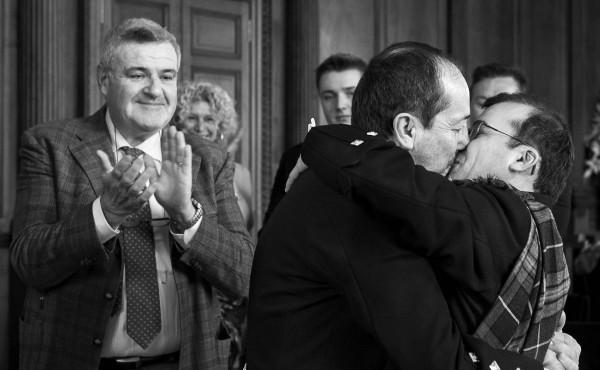 Matrimonio ad Edimburgo, in Scozia. Matrimonio gay. Matrimonio samesex. Wedding in Edinburgh. Gay wedding.