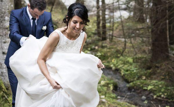 avventura e matrimonio sulle Alpi in montagna